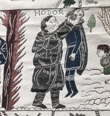 tapisserie Game of Thrones bayeux hodor