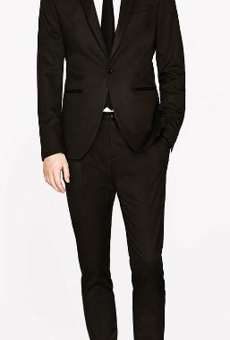 costume zara noir