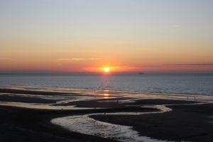 coucher de soleil pays d'auge