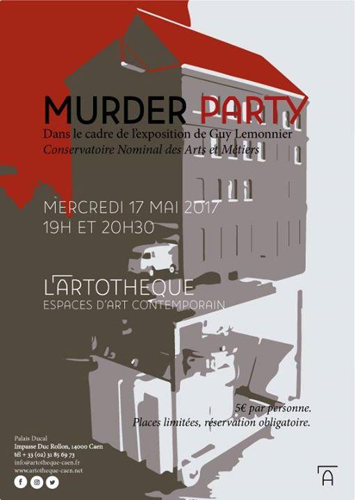 Affiche murder party caen