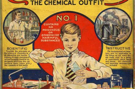 petit chimiste pub ancienne