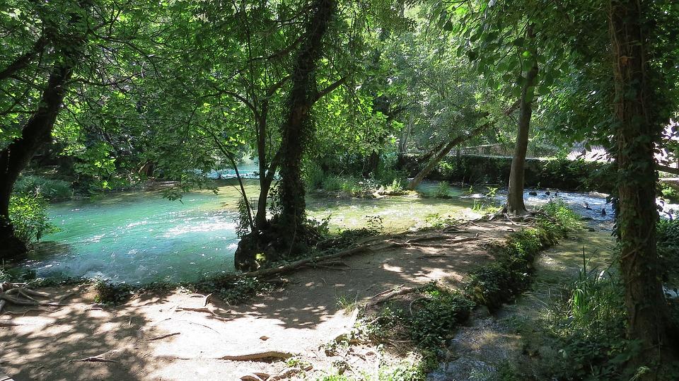 avant les chutes de Krka parc national
