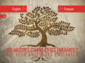 généalogiques ascendants voyage aux Etats-Unis