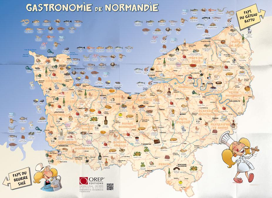 carte gastronomie normandie