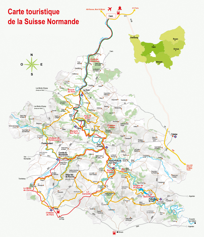 carte suisse normande
