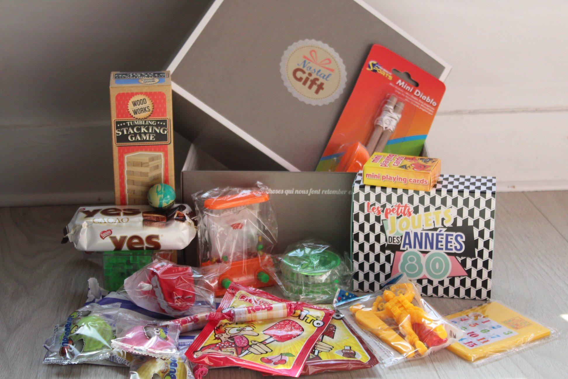 Avis Nostalgift box années 80 contenu
