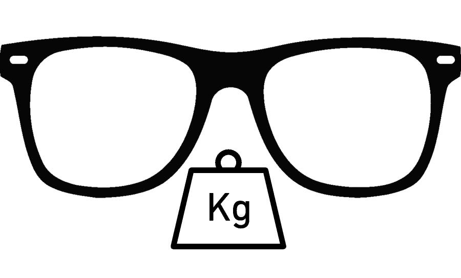 poids monture de lunettes