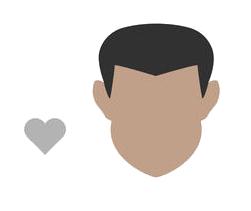 lunettes de vue choisir pour un visage masculin en forme de cœur