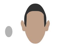 Avec un visage masculin ovale