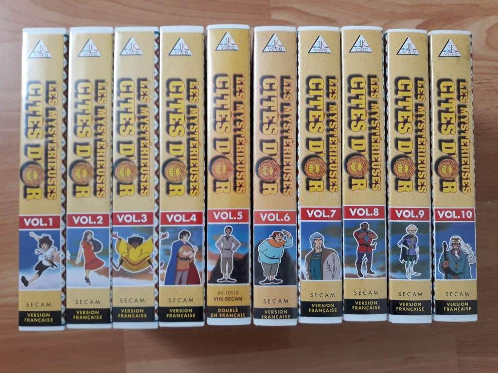 cassettes VHS les mysterieuses cités d'or