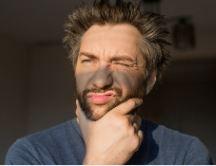 barbe démangeaison